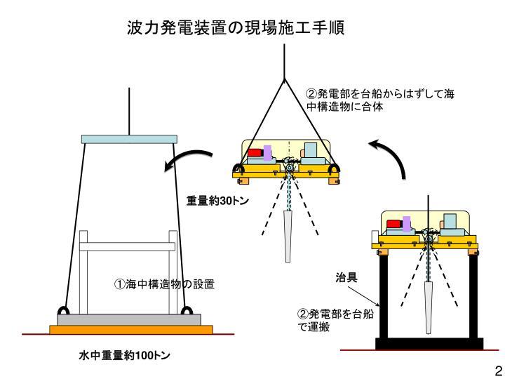 波力発電装置の現場施工手順