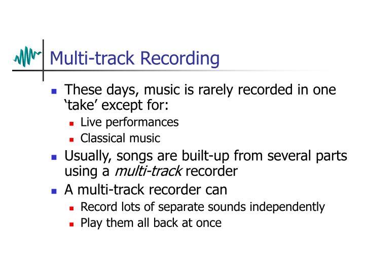Multi-track Recording
