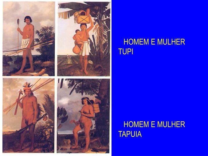 HOMEM E MULHER TUPI