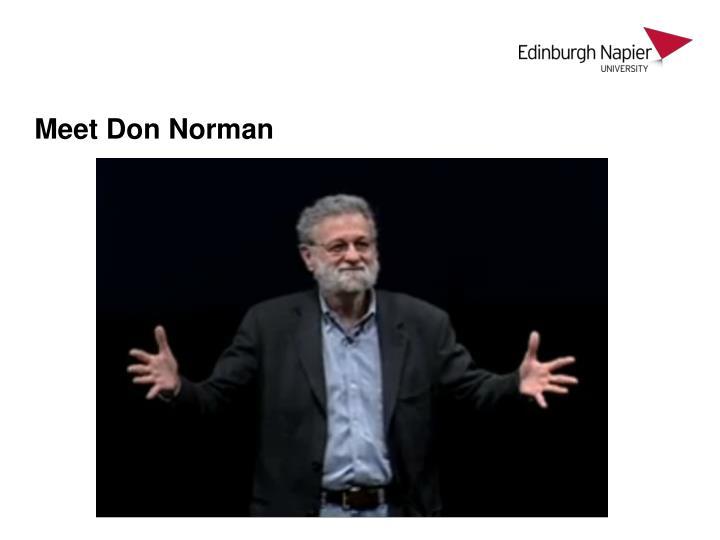 Meet Don Norman