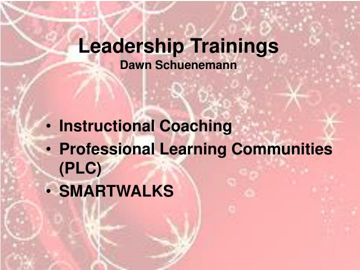 Leadership Trainings