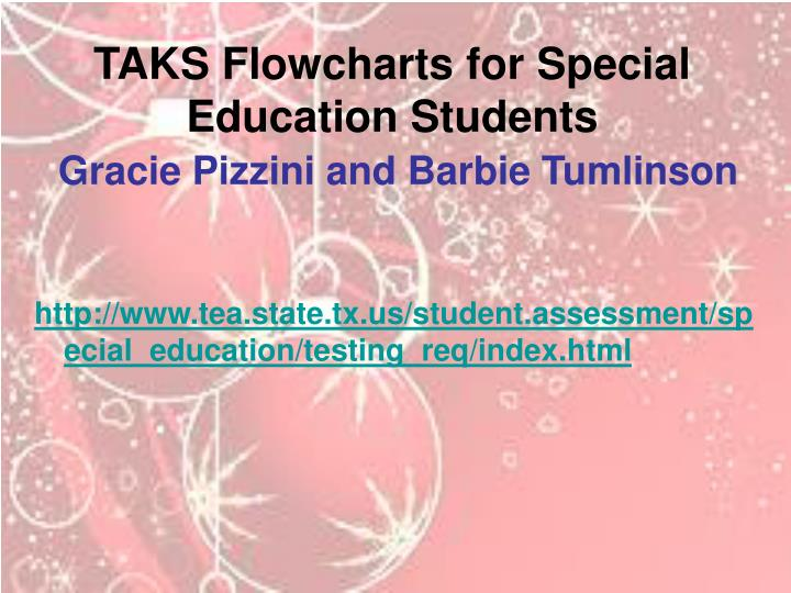 TAKS Flowcharts for Special Education Students