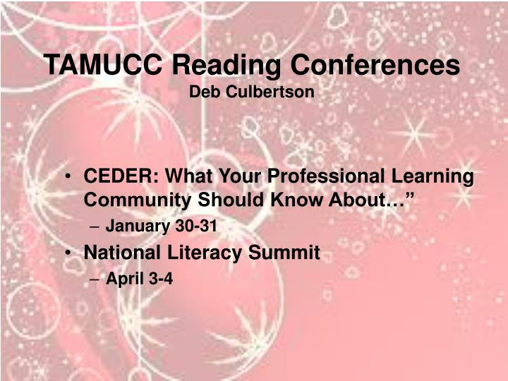 TAMUCC Reading Conferences