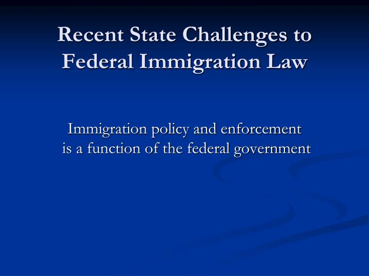 the impact of the early federal laws on the immigration trends into america Immigration adversely impacts both native-born and earlier-arriving immigrant yet once again their progress into the american mainstream was hindrered by the arrival of the new immigrants many immigrant entrepreneurs refuse to hire blacks, and state and federal civil-rights agencies have.