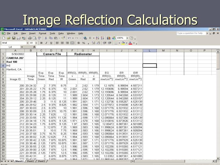 Image Reflection Calculations
