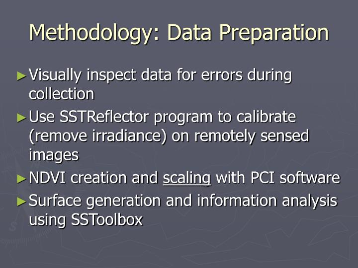 Methodology: Data Preparation