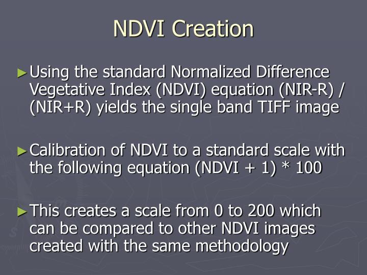 NDVI Creation