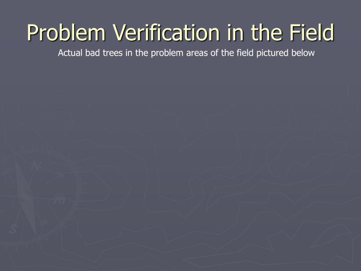 Problem Verification in the Field