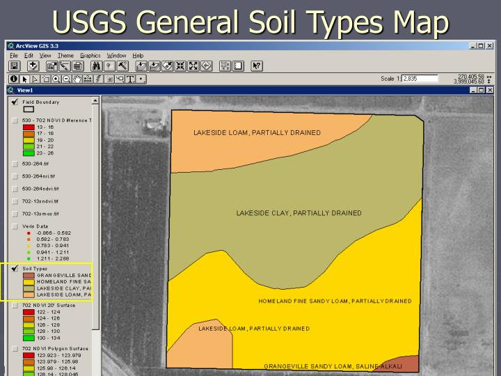 USGS General Soil Types Map