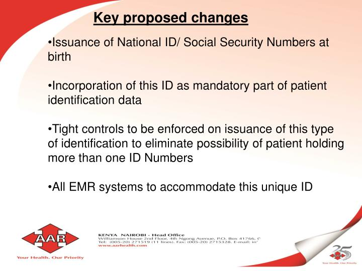 Key proposed changes