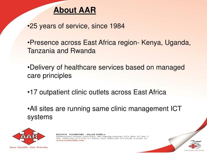 About AAR
