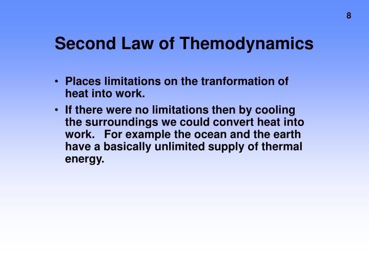 Second Law of Themodynamics