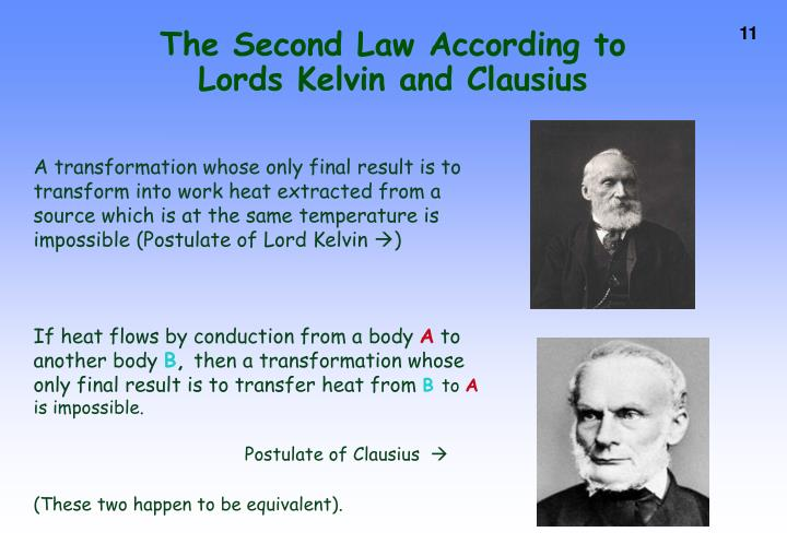 The Second Law According to Lords Kelvin and Clausius