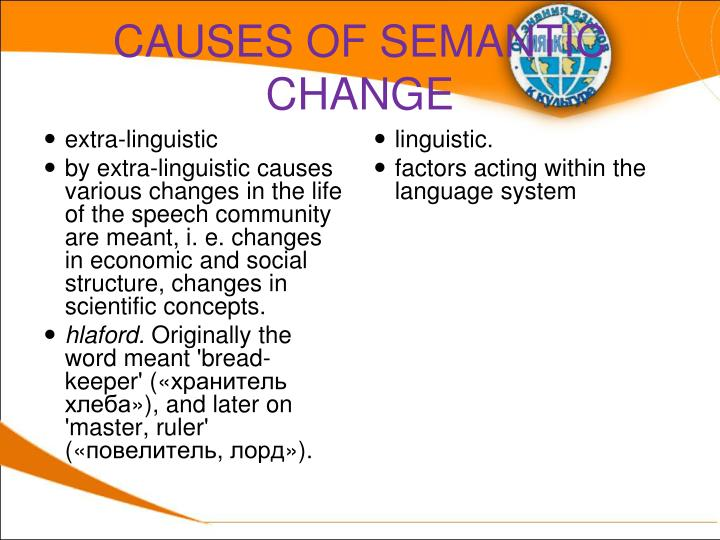 CAUSES OF SEMANTIC CHANGE