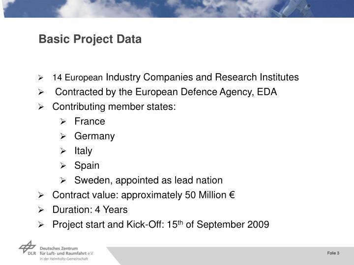 Basic Project Data