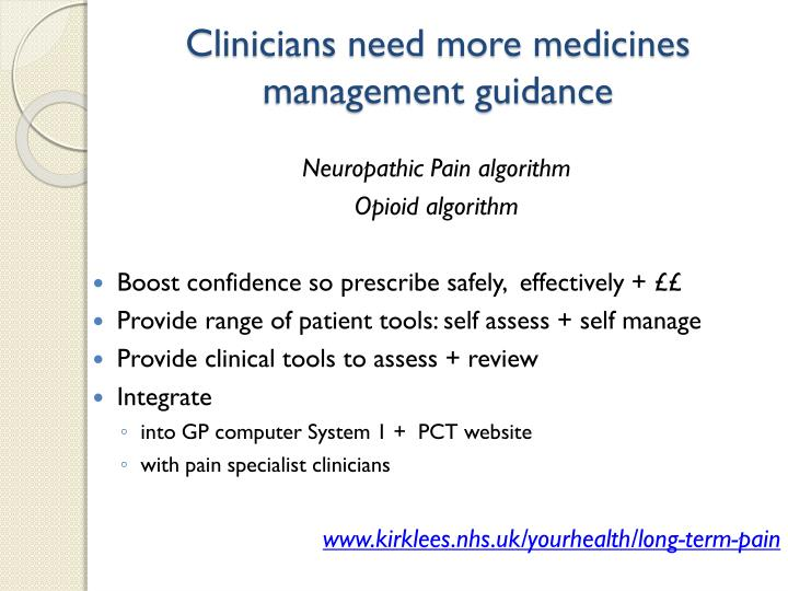 Clinicians need more medicines management guidance