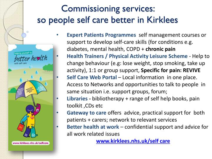 Commissioning services: