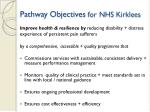 pathway objectives for nhs kirklees