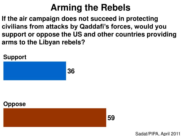 Arming the Rebels