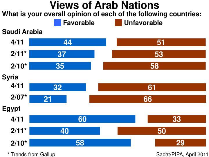 Views of Arab Nations