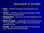 documents d arcview