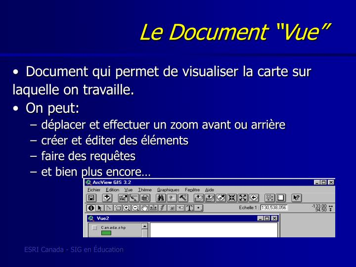 "Le Document ""Vue"""