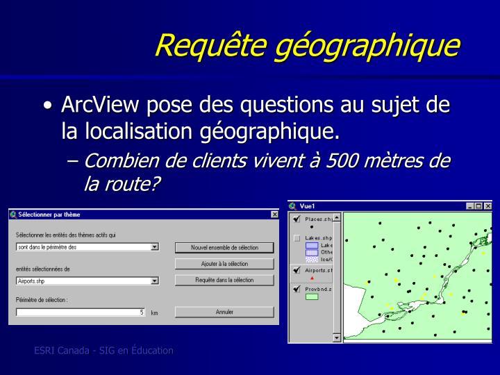 Requête géographique