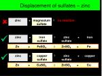 displacement of sulfates zinc