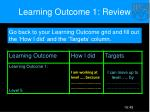 learning outcome 1 review
