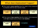 when does displacement happen