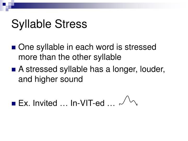 Syllable Stress