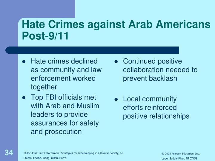 Hate crimes declined as community and law enforcement worked together
