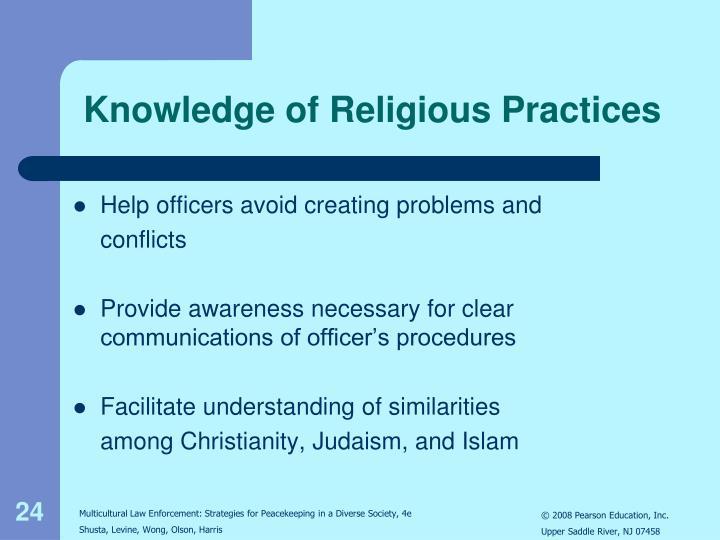 Knowledge of Religious Practices