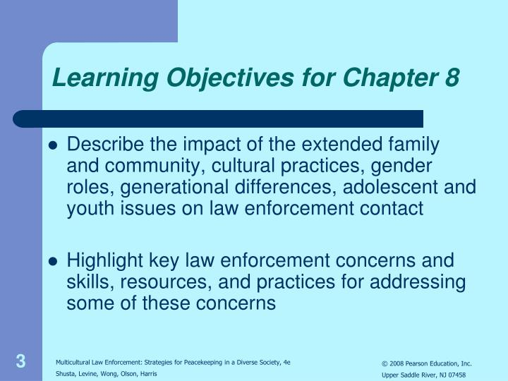 Learning objectives for chapter 81