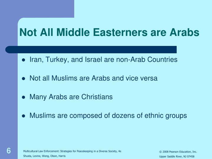 Not All Middle Easterners are Arabs