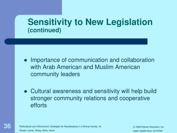 Sensitivity to New Legislation