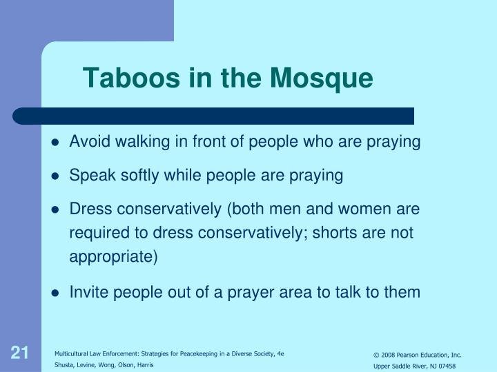 Taboos in the Mosque
