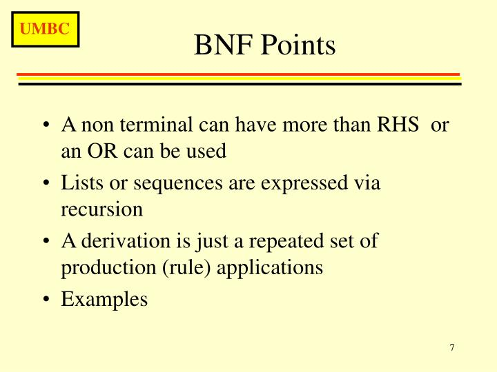 BNF Points