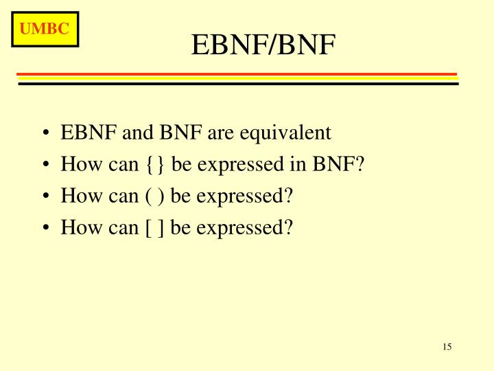 EBNF/BNF
