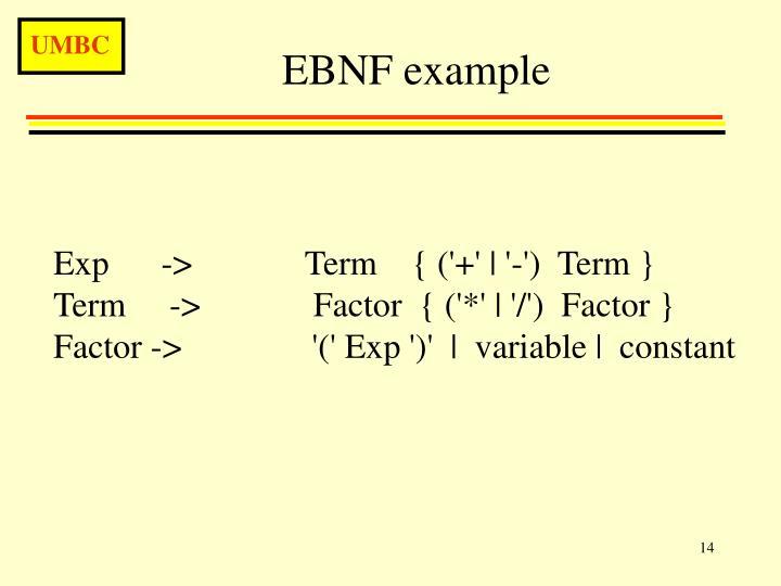 EBNF example