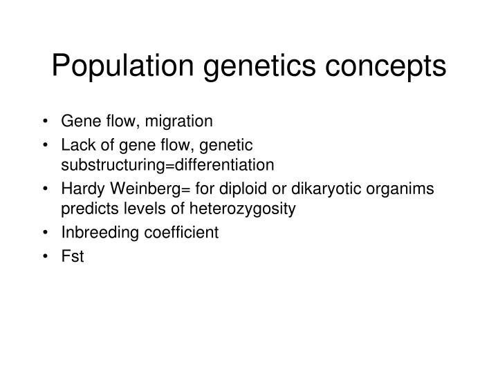 Population genetics concepts