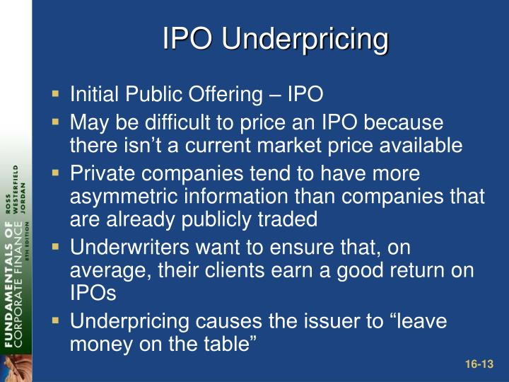 IPO Underpricing