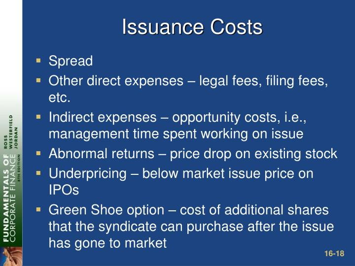 Issuance Costs