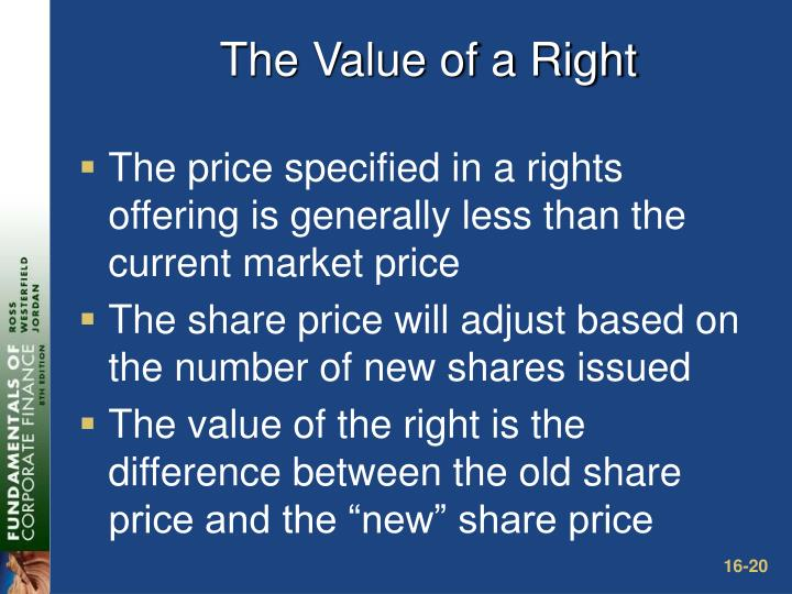 The Value of a Right