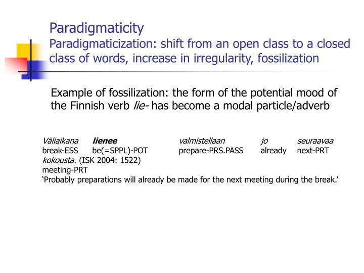 Paradigmaticity