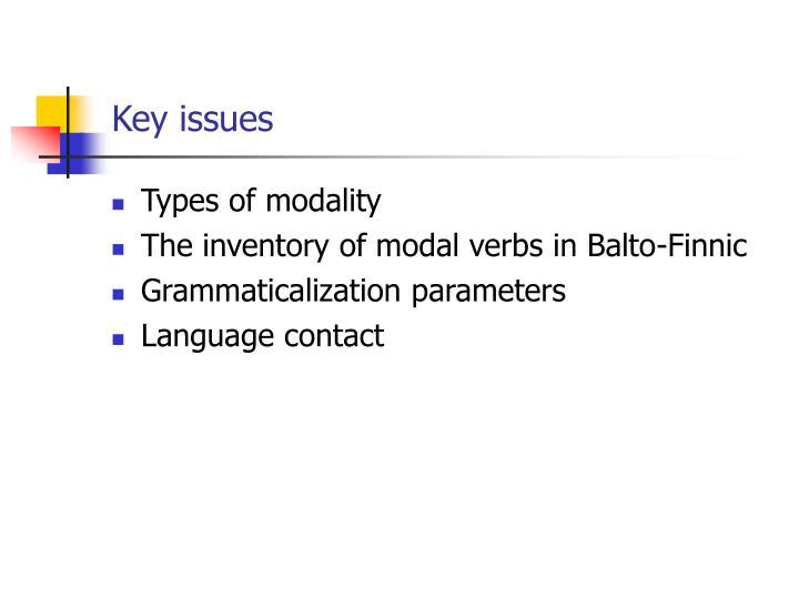 Types of modality