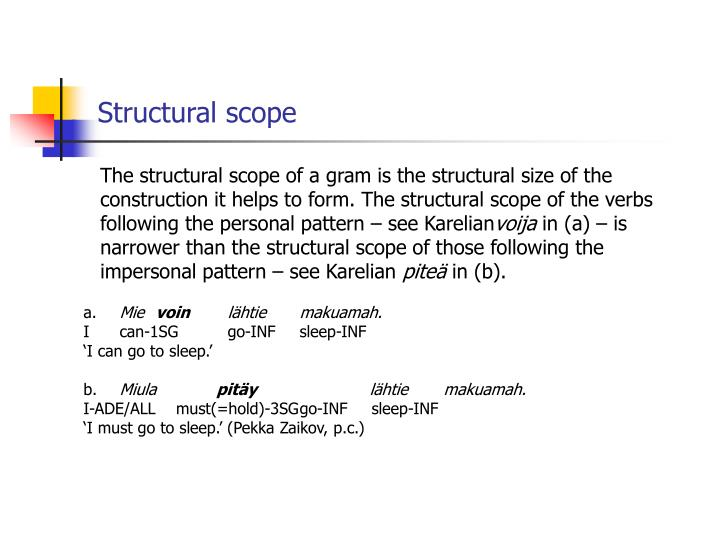 Structural scope