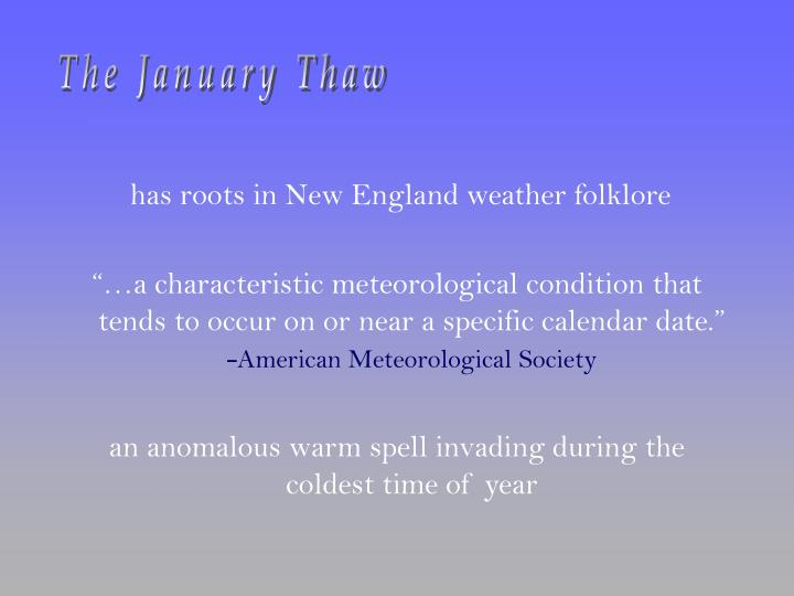 The January Thaw