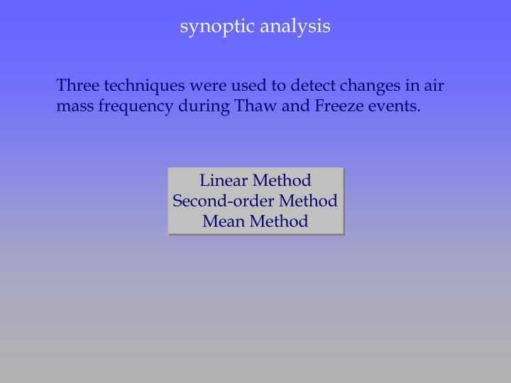 synoptic analysis