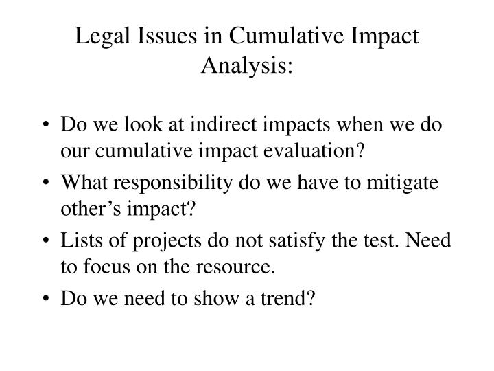legal issue analysis